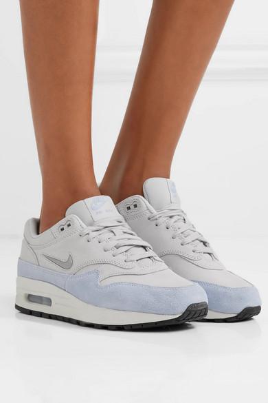 nike air max 1 premium baskets en daim gris femme