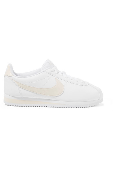 CLASSIC CORTEZ PANELED LEATHER SNEAKERS