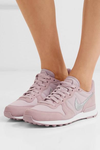Nike | und Internationalist Sneakers aus Veloursleder und | Rippstrick 1320b0