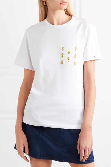 Chloé International Women's Day besticktes T-Shirt aus Baumwoll-Jersey