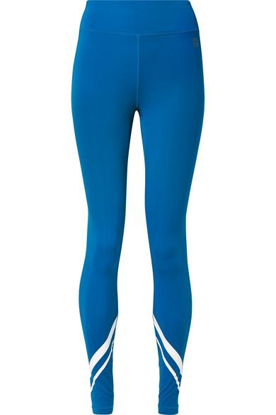 TORY SPORT Chevron Full-Length Performance Leggings in Bright Blue