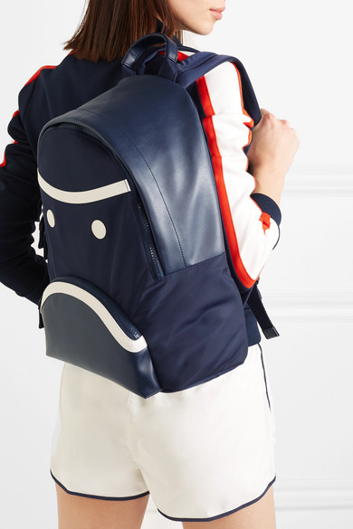 065647a4566b Tory Sport. Grumps appliquéd leather and shell backpack