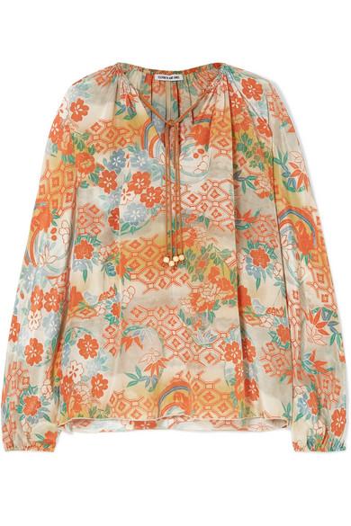 21d04624bbc99f Elizabeth and James   Chance printed silk blouse   NET-A-PORTER.COM