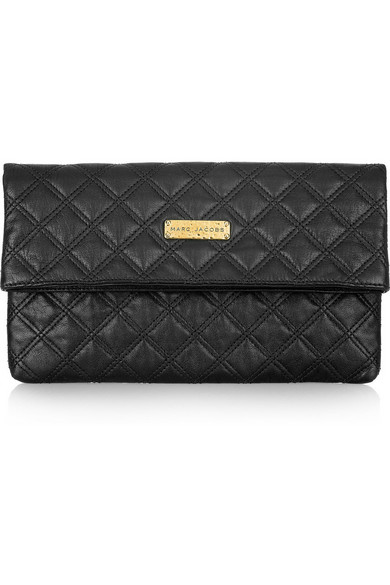 8ff55bddcd2d Marc Jacobs. Eugenie quilted leather clutch