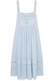 Linton pleated cotton-voile dress