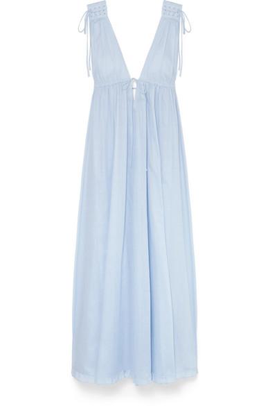 Octavia Cotton-voile Maxi Dress - Light blue Three Graces London PHspS