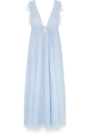 Octavia cotton-voile maxi dress