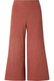calé Gigi ribbed stretch-knit culottes