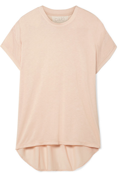 CALÉ Sandrine Modal-Blend Jersey T-Shirt in Blush
