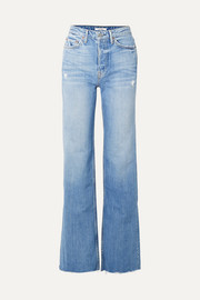 GRLFRND Carla distressed high-rise flared jeans