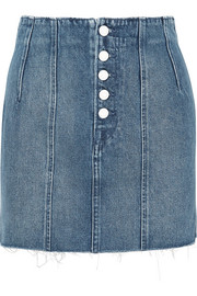 GRLFRND Twiggy paneled denim mini skirt