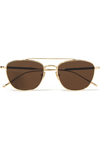 SUNDAY SOMEWHERE Romeo Aviator-Style Gold-Tone Sunglasses