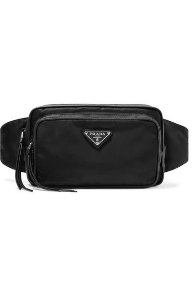 8fb136f902ef91 Prada | Leather-trimmed shell belt bag | NET-A-PORTER.COM