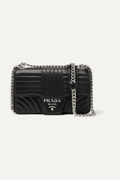 7d47b405db Prada Small Quilted Soft Leather Shoulder Bag In Black