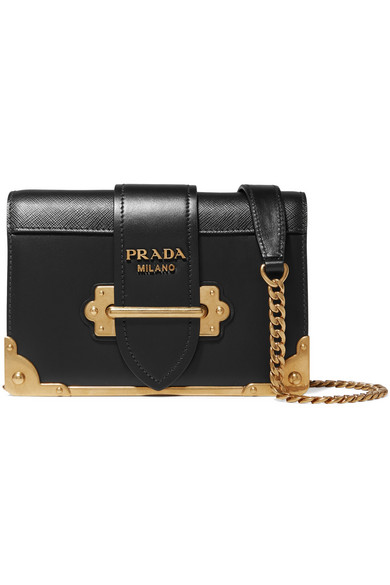20157dcb23d6 Prada | Cahier mini leather shoulder bag | NET-A-PORTER.COM