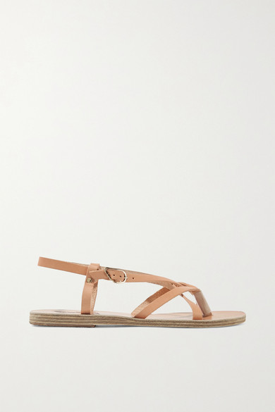 Ancient Greek Sandals - Semele Leather Sandals - Beige