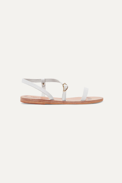 Ancient Greek Sandals - Niove Leather Sandals - White