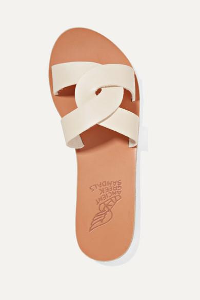 4afb7c506ce Ancient Greek Sandals | Desmos cutout leather slides | NET-A-PORTER.COM