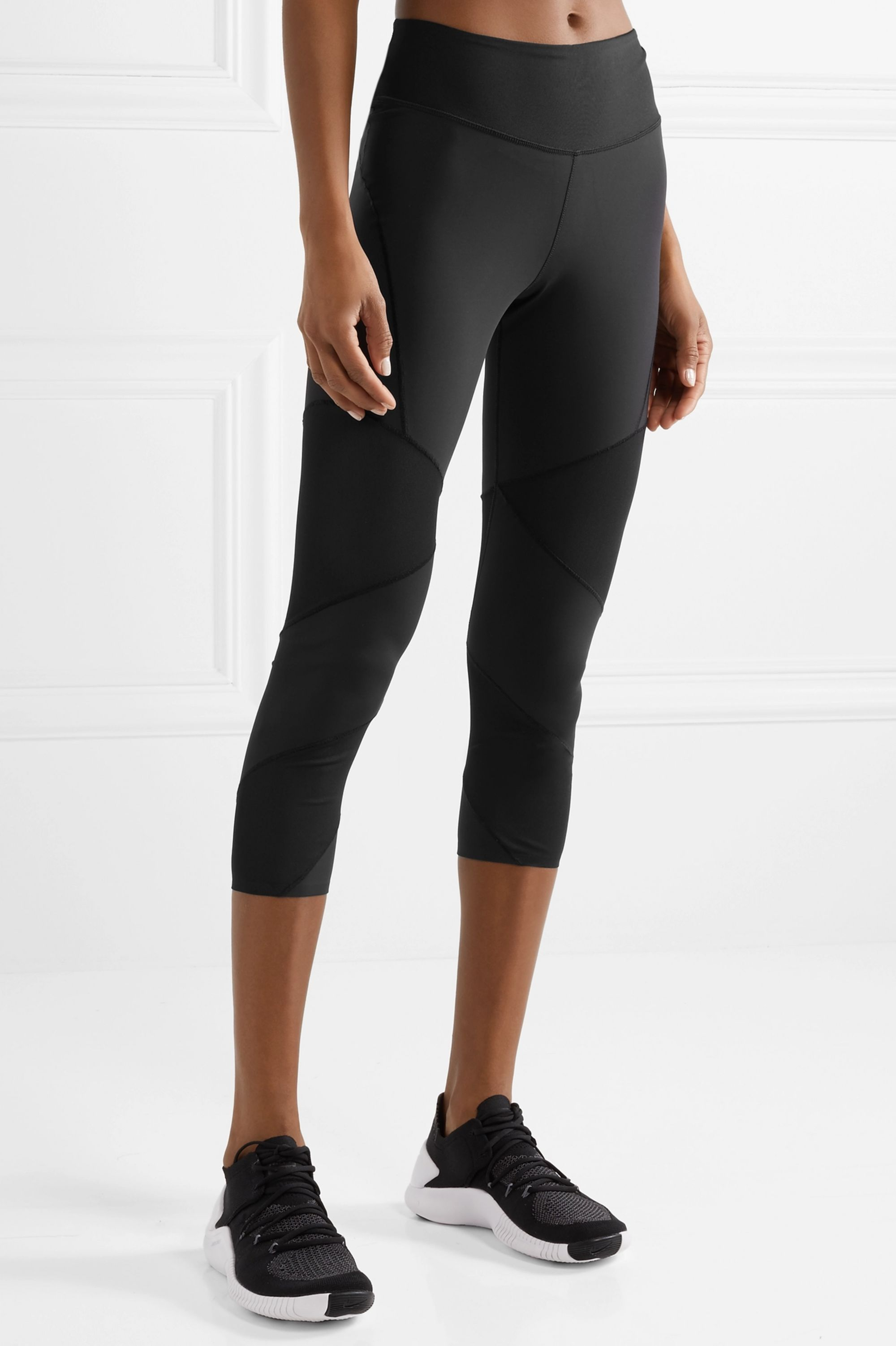 Nike Fly Lux cropped mesh-paneled stretch leggings