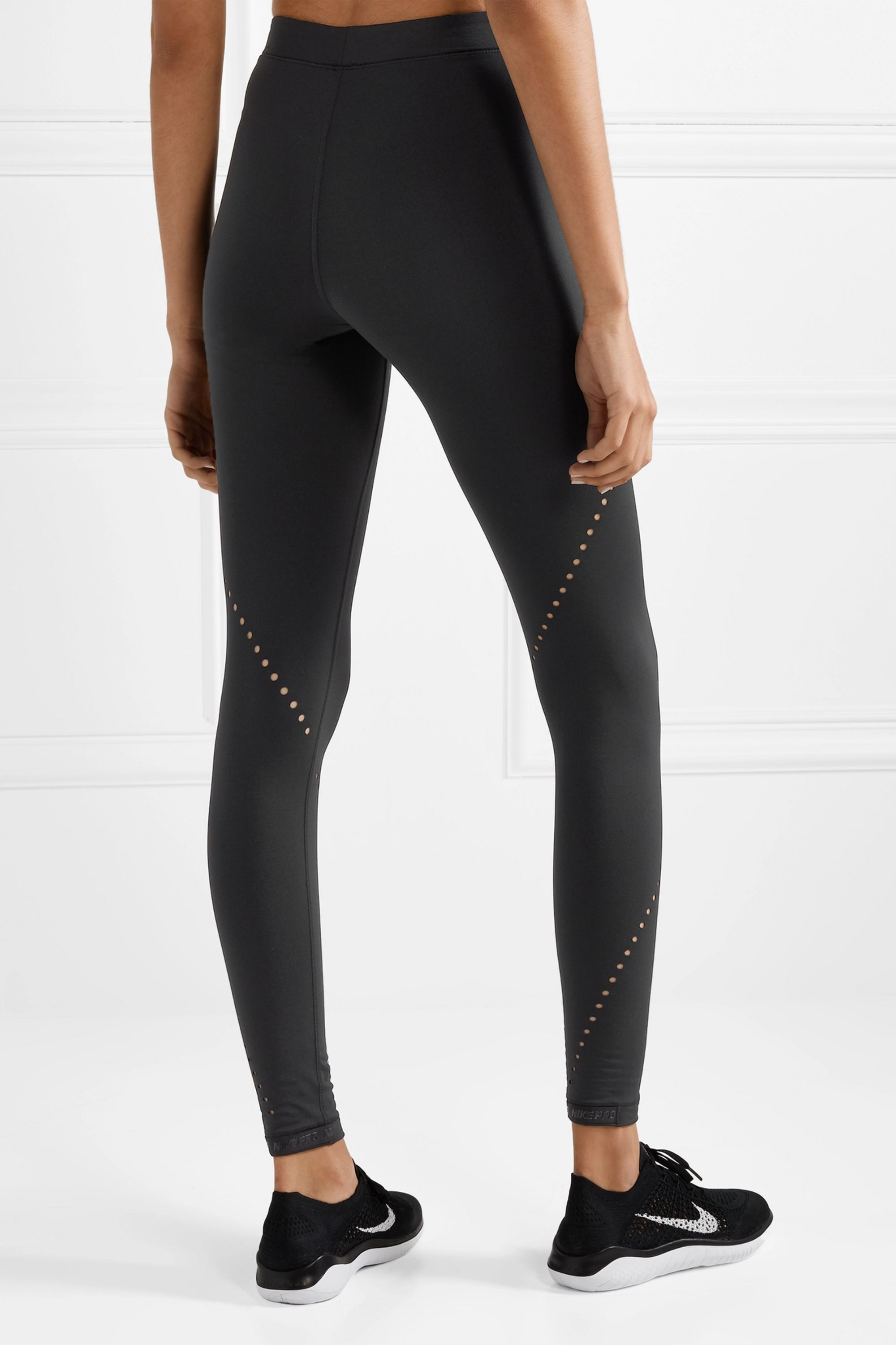 Nike Pro Hyperwarm perforated stretch leggings