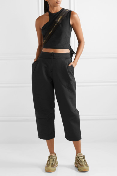 Nike Pants Tech Pack cropped wide-leg neoprene track pants