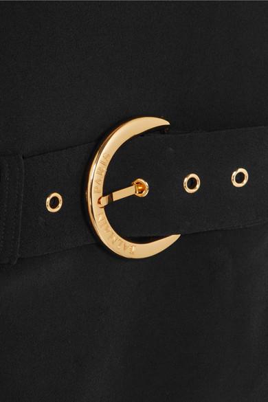 Balmain Dress One-shoulder wrap-effect crepe maxi dress
