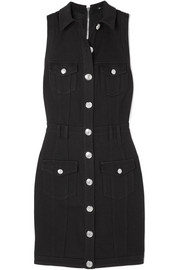 Balmain Button-embellished denim dress