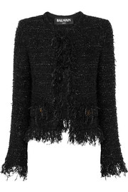 Balmain Frayed metallic bouclé jacket