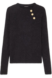 Balmain Button-embellished knitted sweater