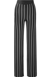 Balmain Striped woven wide-leg pants