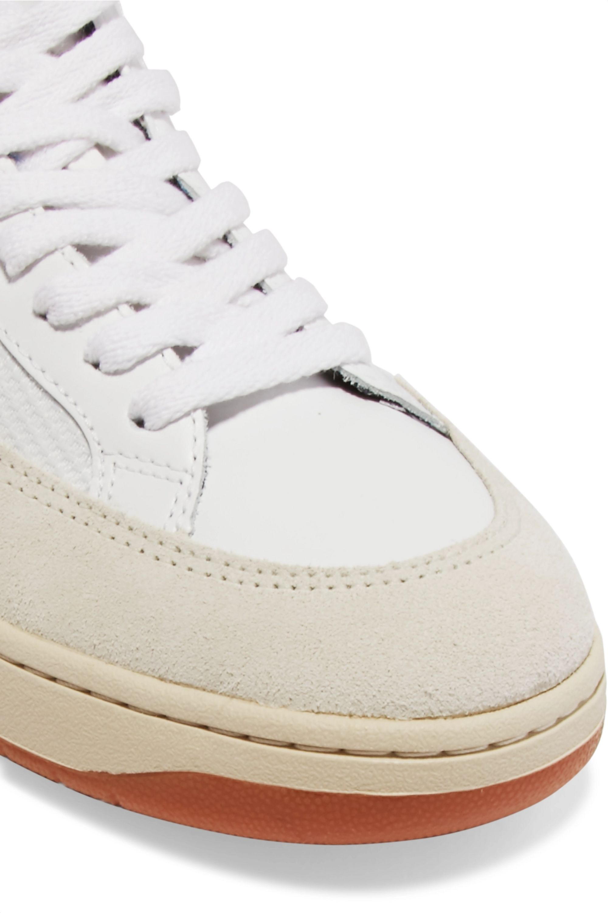 Veja V-12 mesh, leather and nubuck sneakers