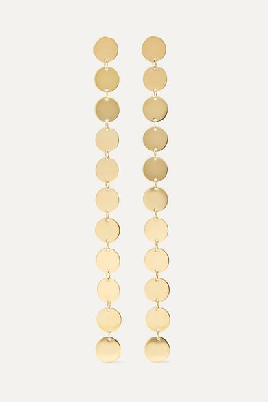 Saskia Diez Paillettes 18-karat Gold-plated Earrings KN9qku