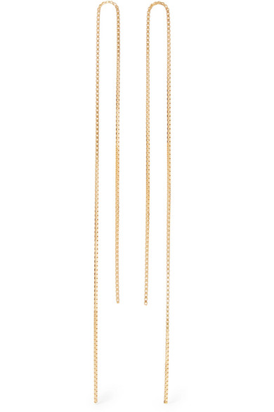 Saskia Diez Fringe 18-karat Gold-plated Earrings QLpZbAsT