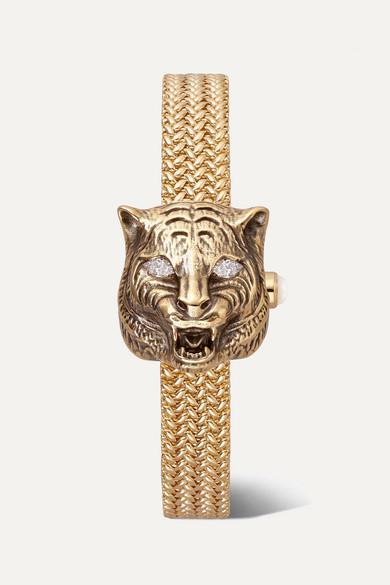 ba3e55a20 Gucci | Le Marché des Merveilles Secret 8mm 18-karat gold, diamond ...