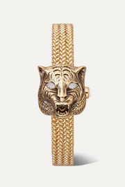 Gucci Le Marché des Merveilles Secret 8mm 18-karat gold, diamond and mother-of-pearl watch