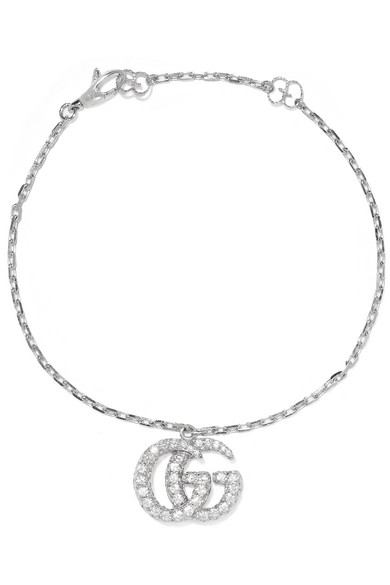 Gg Running 18Ct White-Gold And Diamond Bracelet in White Gold