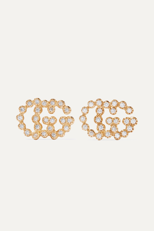 Gucci 18-karat gold diamond earrings