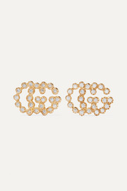 Gucci 18-karat gold diamond earrings