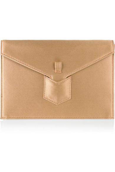 Yves Saint Laurent. Y satin envelope clutch