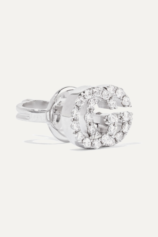 Gucci Ohrringe aus 18Karat Weißgold mit Diamanten