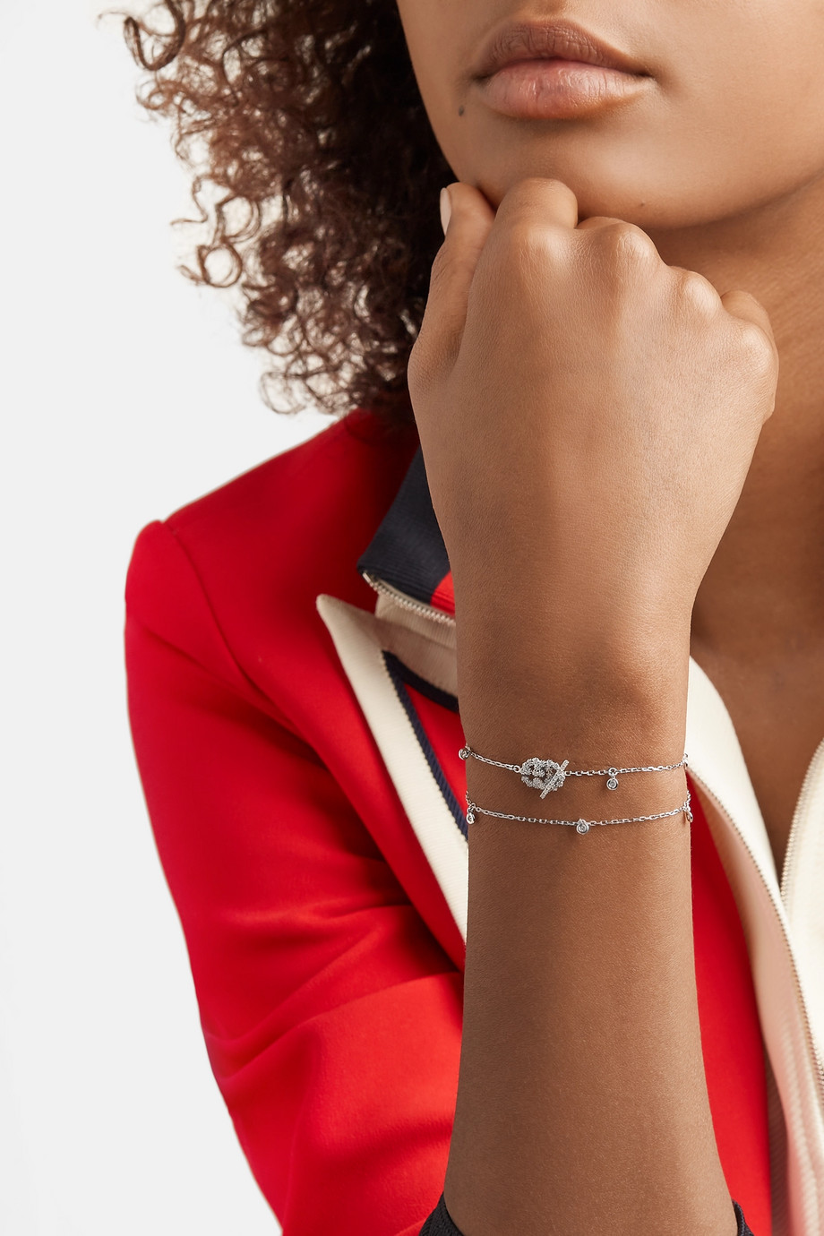 Gucci 18-karat white gold diamond bracelet