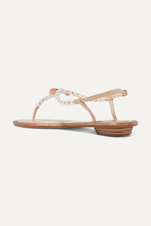 René Caovilla Eliza embellished leather sandals