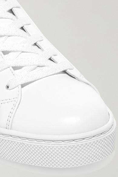 René Caovilla   Sneakers aus Kristallen Leder und Veloursleder mit Kristallen aus 7cb213