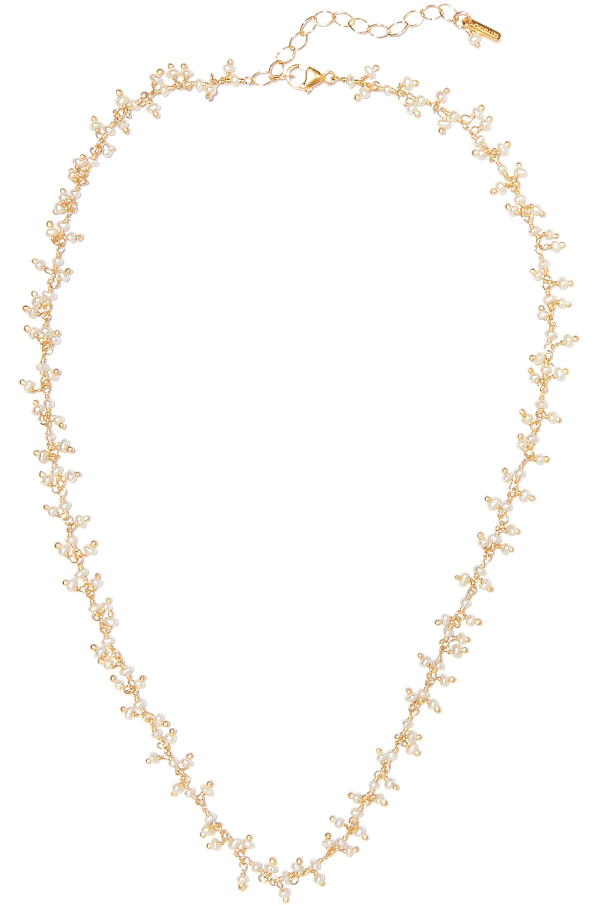 Chan Luu Gold-plated pearl necklace