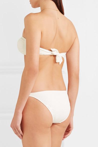 Melissa Odabash Aruba Bandeau-Bikini-Oberteil mit Perforation und Knotendetail