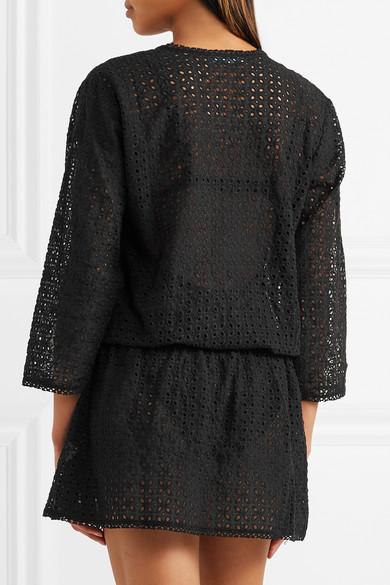 Melissa Odabash Kylie Kleid mit Lochstickerei