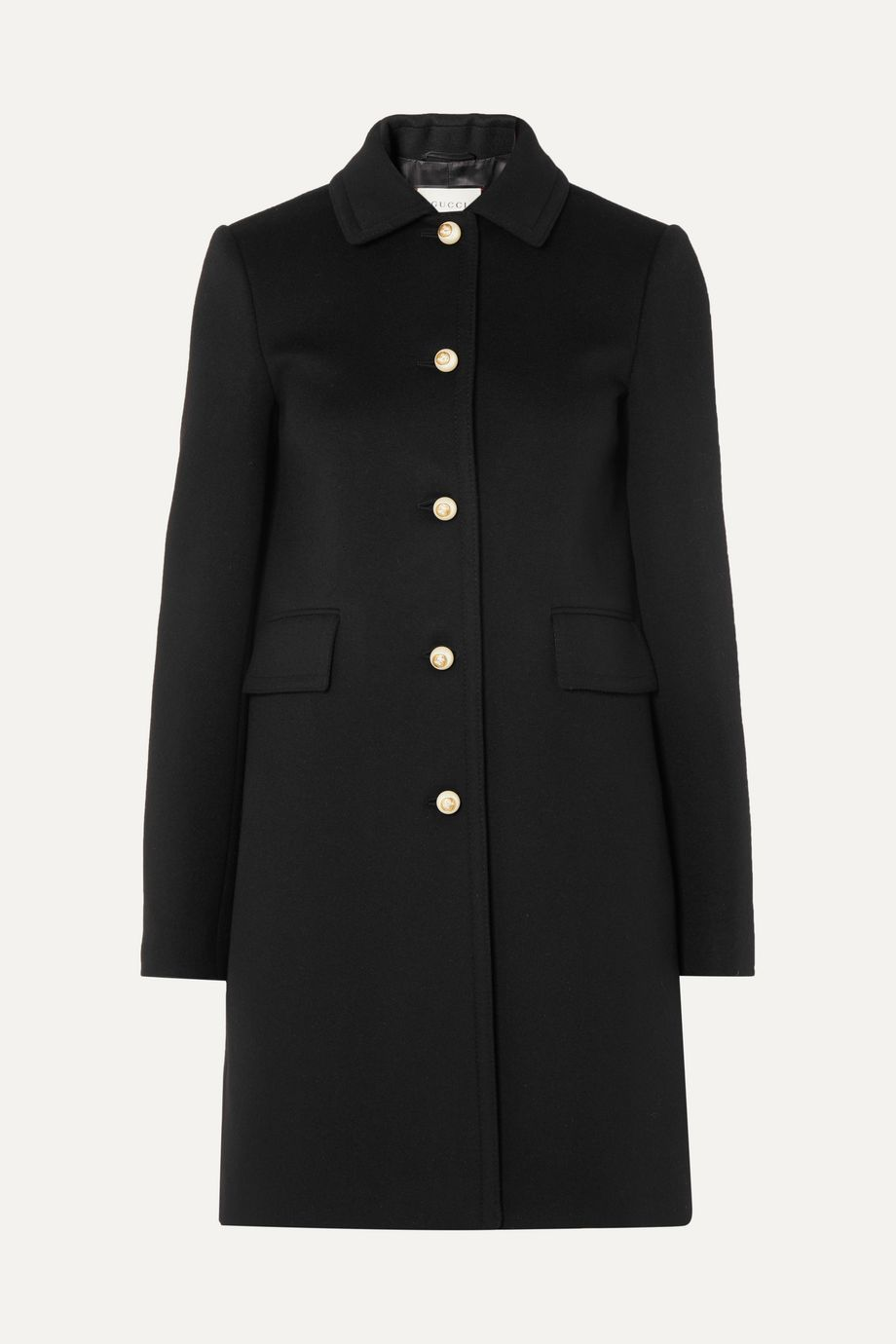 Gucci Faux pearl-embellished wool coat