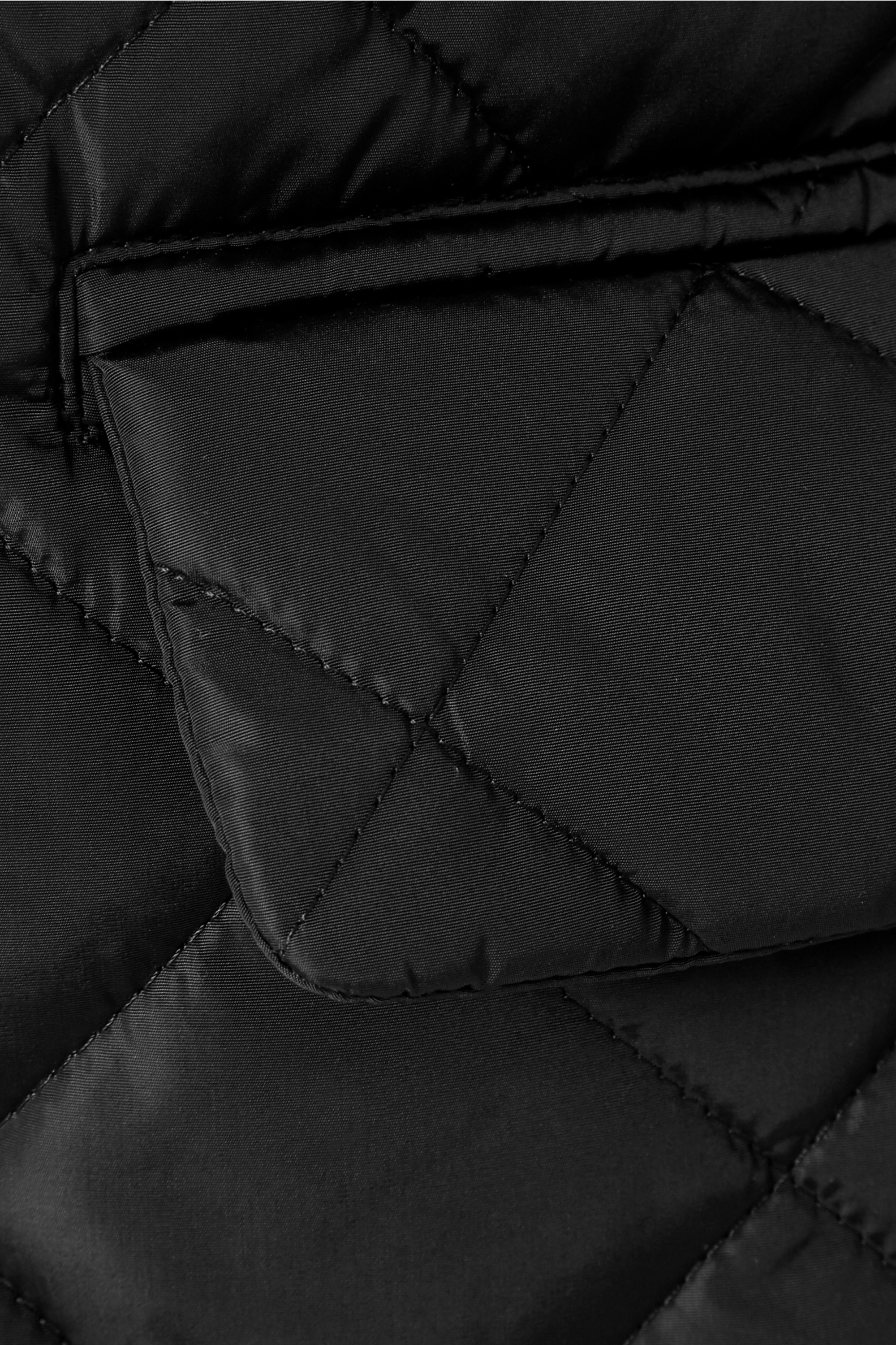 Gucci Hooded grosgrain-trimmed quilted shell coat