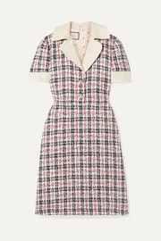 Gucci Embellished metallic tweed dress