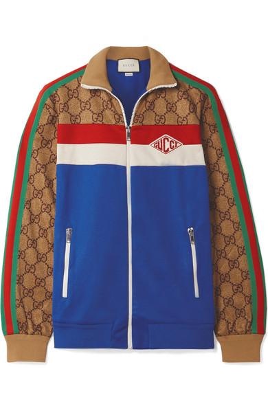 d659f86f6 Gucci. Printed tech-jersey track jacket